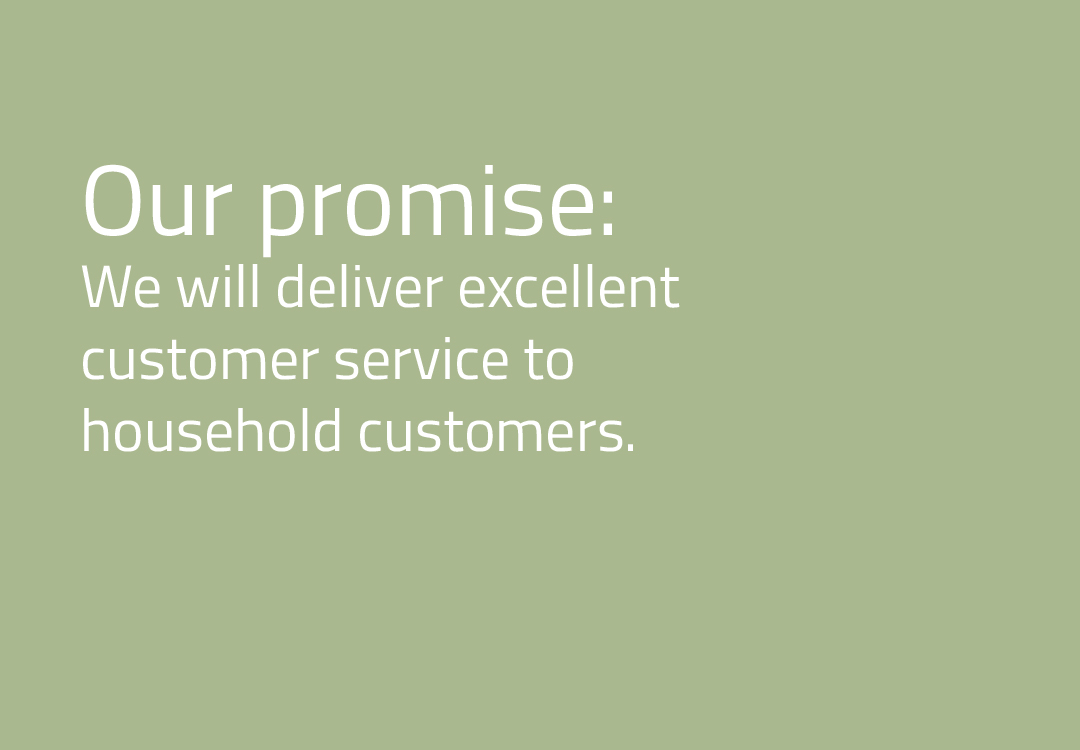 We will deliver excellent customer service to household customers